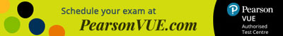 PearsonVUE schedule your exam here